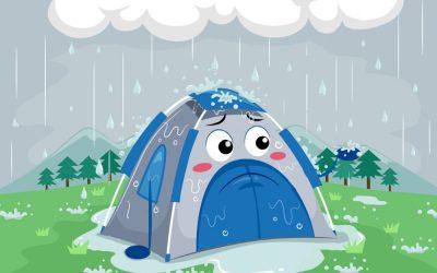 Acampar com chuva