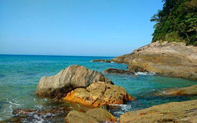Acampando na Praia de Santiago no Litoral Norte de SP!