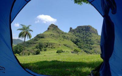 Acampamento selvagem em Botucatu SP