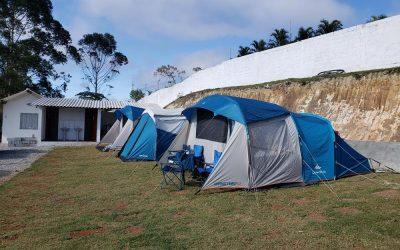 Acampando no Camping e Pousada 5 Lagos em Mairiporã SP