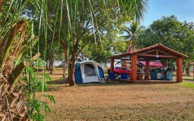 Acampada no Parque Ecoturístico da Areia Branca em Três Fronteiras SP